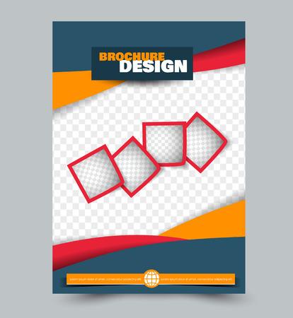 Zakelijke zakelijke brochure sjabloon.