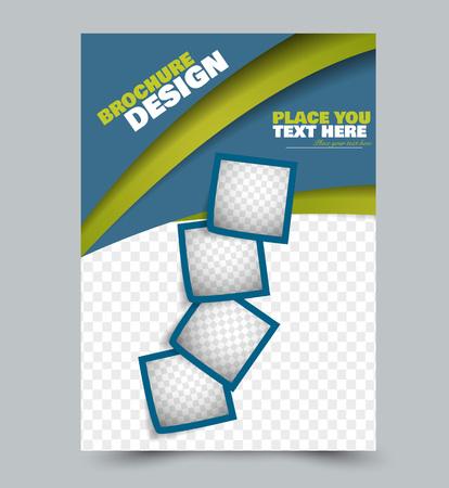 Business presentation brochure template.