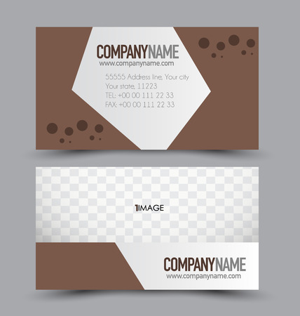Business card set template for business identity corporate style business card set template for business identity corporate style brown color vector illustration reheart Gallery