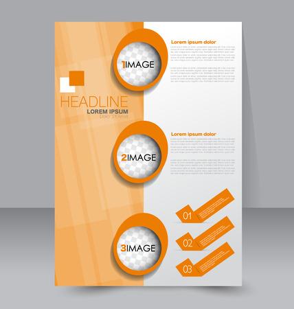 Business brochure template design. Illustration