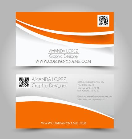 Business card set template. Illustration