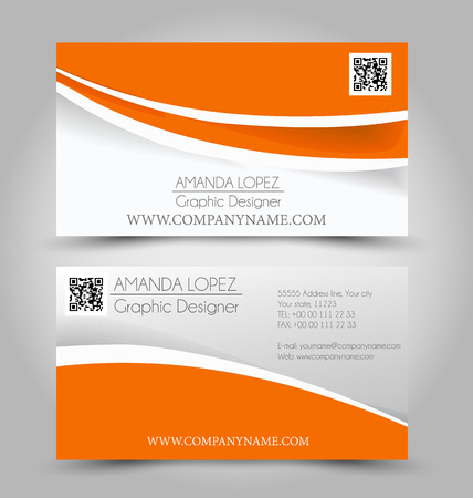 Business card set template. Illustration