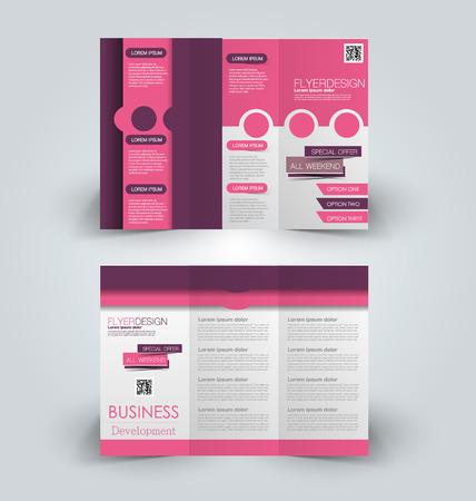 Brochure mock up design template for business. Stock Illustratie