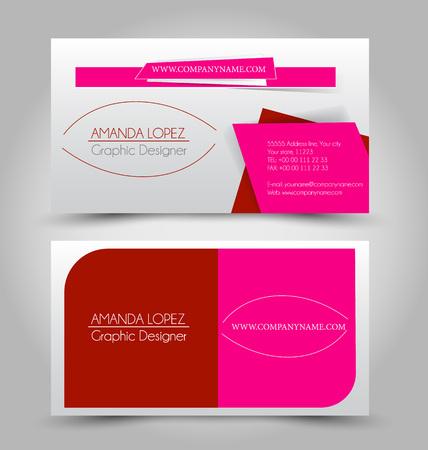 Business card set template. Ilustracja