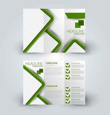 Brochure mock up design template for business, education, advertisement.  イラスト・ベクター素材