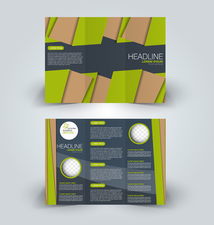 Brochure mock up design template vector illustration