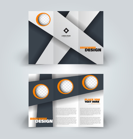 Brochure template. Creative design trend for professional corporate style.
