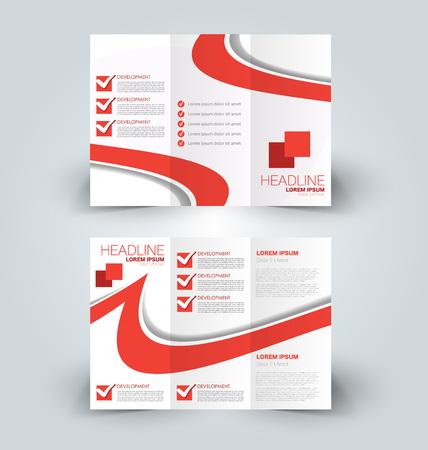 Creative business flyer template Editable vector illustration.