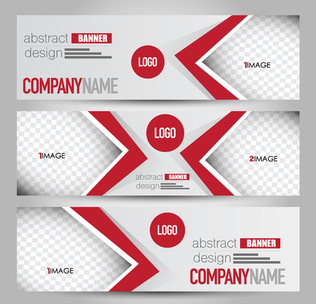 Banner template. Abstract background for design,  business, education, advertisement. Red color. Vector  illustration. 矢量图像