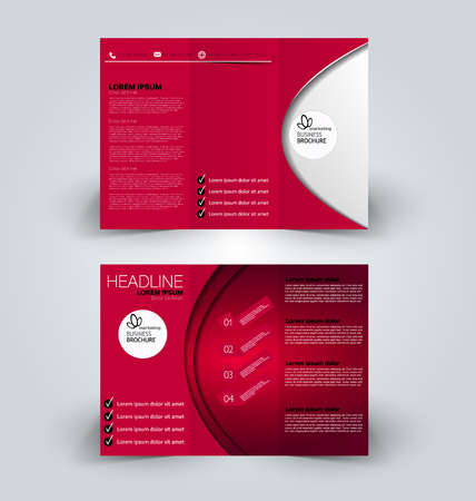 Business brochure, cover, presentation or banner template design.