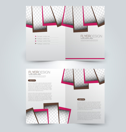 Abstract flyer design background. Brochure template. Can be used for magazine cover, business mockup, education, presentation, report. Pink and brown color. Illustration