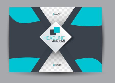 Brochure or billboard template design landscape orientation for education, presentation, website.