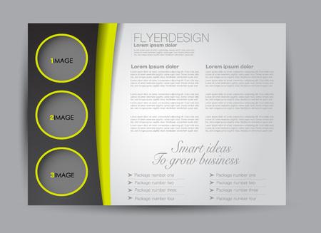 Flyer, brochure, billboard template design landscape orientation for education, presentation, website. Editable vector illustration. Green and black color.