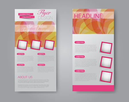 Abstract design brochure template that can be used for magazine cover, business, presentation and report.