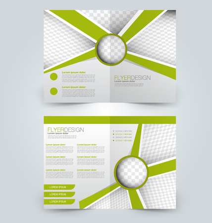 Abstract design template which can be used for magazine cover, business mockup, presentation, report in white and green color. Illustration