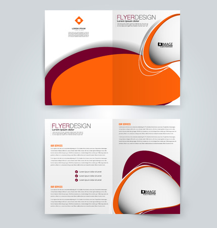 Abstract flyer design background. Brochure template. Can be used for magazine cover, business mockup, education, presentation, report. Orange and red color.