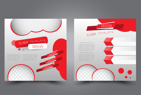 Abstract design template that can be used for magazine cover, brochure, business, presentation and report.