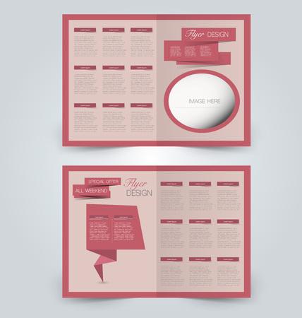 Template design for business advertisement illustration.