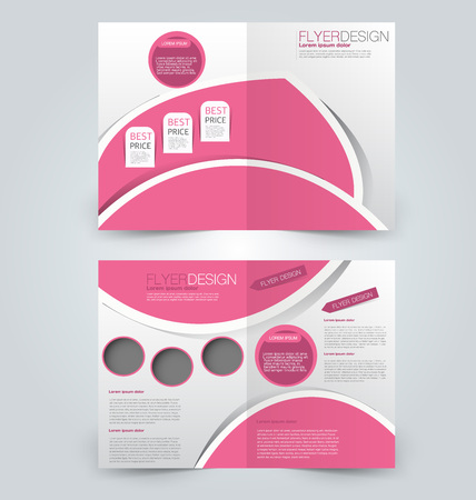 Abstract flyer design background. Brochure template. Can be used for magazine cover, business mockup, education, presentation, report. Pink color