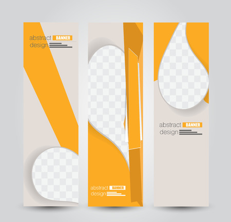 Banner template. Abstract background for design,  business, education, advertisement. Orange color. Vector  illustration.