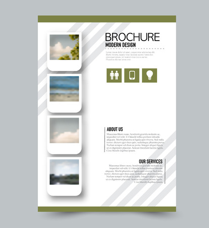 Flyer Template. Brochure Layout. Annual Report Cover Or Print Out ...