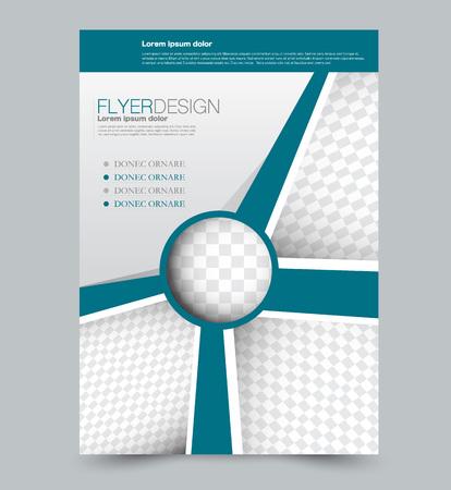 Blue business flyer. a4 pribtable poster. Vector illustration. Vetores