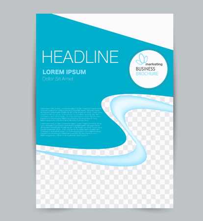 Plantilla de volante. Diseño para negocios, educación, folletos publicitarios, carteles o folletos. Ilustración de vector. Color azul. Ilustración de vector