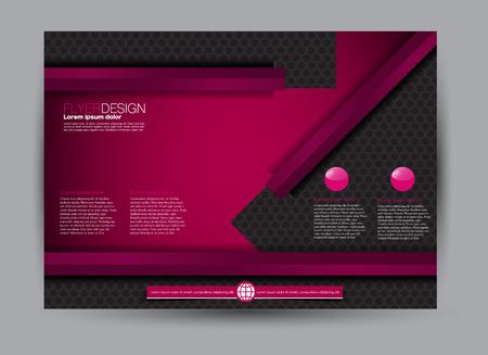Flyer, brochure, billboard template design landscape orientation for education, presentation, website.  Pink and black color. Editable vector illustration. Banque d'images - 114215700