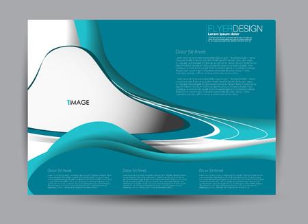 Flyer, brochure, billboard template design landscape orientation for business, education, school, presentation, website. Blue color. Editable vector illustration. Stockfoto - 126834634