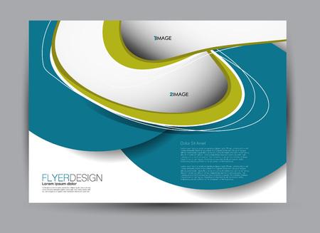 Flyer, brochure, billboard template design landscape orientation for education, presentation, website. Blue and green color. Editable vector illustration. Vektorové ilustrace