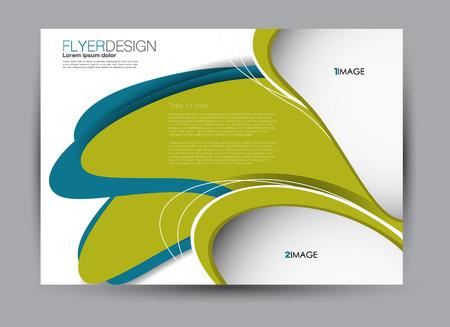 Flyer, brochure, orientation de paysage de conception de modèle de panneau d'affichage pour l'éducation, présentation, site Web. Couleur bleu et vert. Illustration vectorielle modifiable.