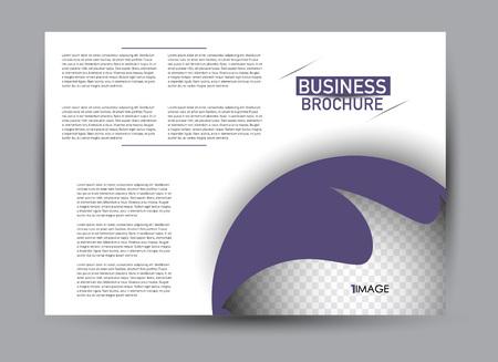 Flyer, brochure, billboard template design landscape orientation for business, education, school, presentation, website. Purple color. Editable vector illustration.