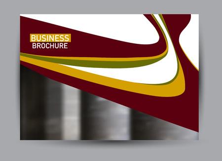 Flyer, brochure, billboard template design landscape orientation for business, education, school, presentation, website. Red, green, and orange color. Editable vector illustration.