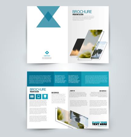Abstracte flyer ontwerp achtergrond. Brochure sjabloon. Kan worden gebruikt voor tijdschriftomslag, zakelijke mockup, onderwijs, presentatie, rapport. Blauwe kleur. Vector illustratie. Vector Illustratie