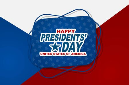 Happy Presidents day banner. Simple design sign. Vector illustration.