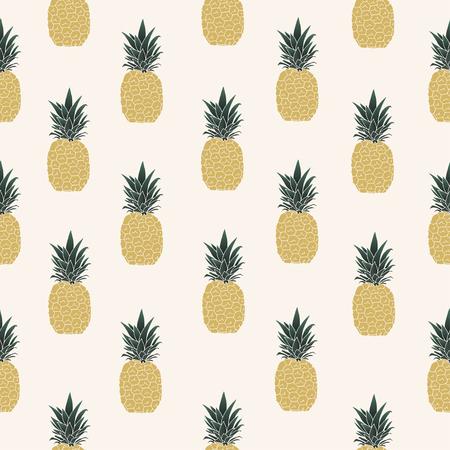 Vector illustration. Pineapple seamless pattern.