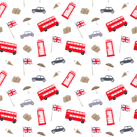 Vector illustration. Element of seamless pattern. London landmarks, city elements collection. Vector background.