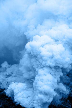 Smoke texture background . Blue smoke barrel Photo