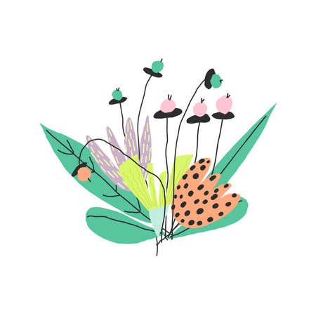Flower bouquet. Vector hand drawn illustration