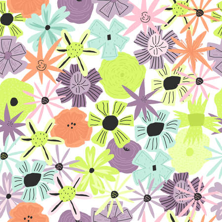 Element of seamless pattern. Flowers print Template for paper, cover, textile