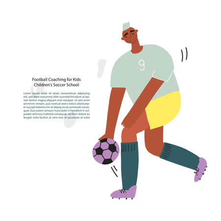 Stylized funny hand drawn soccer . Vector illustration
