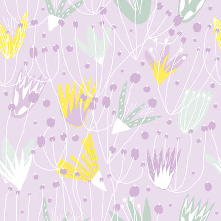 Floral vector seamless pattern. Flower print Vettoriali