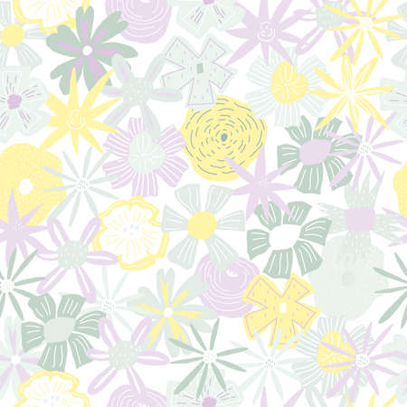 Floral pattern. Vector element of seamless pattern