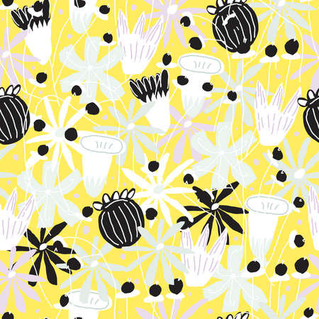Floral vector seamless pattern Vettoriali