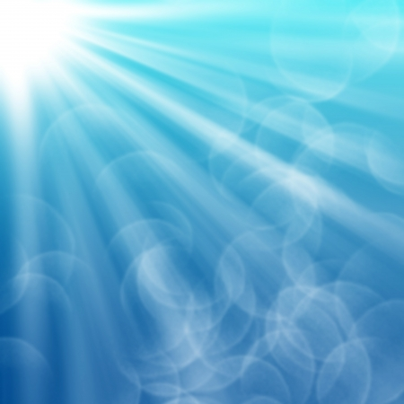 Abstract blue rays background photo
