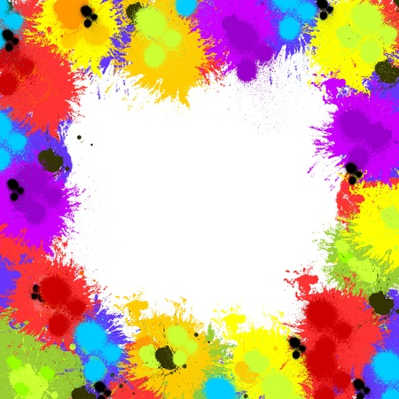 inky: Colorful abstract inky splash background