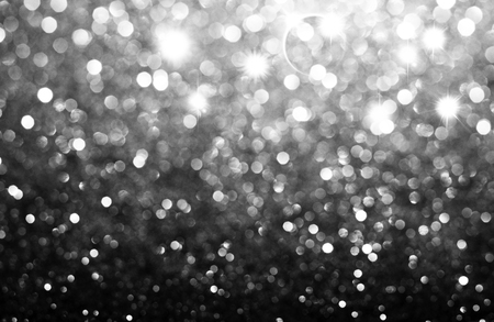 blue christmas: Lights on grey background. Stock Photo