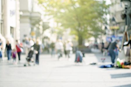 Geschäftsleute auf städtischen Stadt Straße Unschärfe Standard-Bild