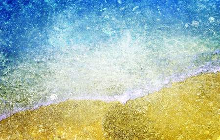 recycled paper texture: Abstract sea beach recycled paper texture Stock Photo