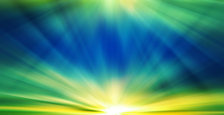 dazzling: Summer background with a magnificent sun burst with lens flare. Stock Photo